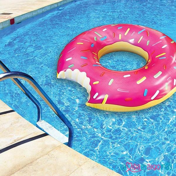 flotador gigante de donuts rosa