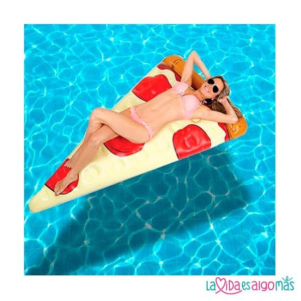 flotador gigante de pizza